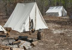 civil war encampment - stock photo