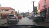 Stock Video Footage of Driving POV rain, side street