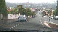 Stock Video Footage of Driving POV rain, suburban road