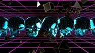 Stock Video Footage of FluoSkull VJ Clip (2)