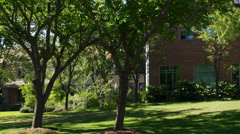 Building on campus Stock Footage
