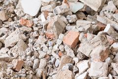 debris construction site - stock photo