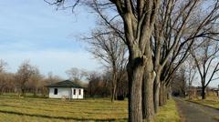 Countryside  in vojvodina spa sanatorium Stock Footage