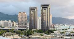 Horisonttiin Honolulu Kuvituskuvat