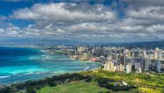 Honolulu and mamala bay Stock Photos