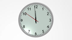 Clock striking 12'o clock Stock Footage