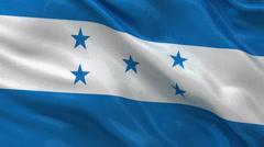 Flag of Honduras seamless loop Stock Footage