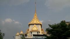 Tilt pan from the Phra Maha Mondop Wat Traimitr Witthayaram Stock Footage