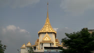 Stock Video Footage of Tilt pan from the Phra Maha Mondop Wat Traimitr Witthayaram