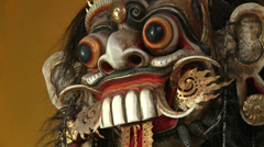 Bali Indonesia Barong Mask Hindu Religion Slam Zoom Stock Footage
