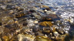 Mountain river Isar_12 Stock Footage