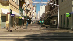 An empty street on Christmas Day in Florianopolis Stock Footage