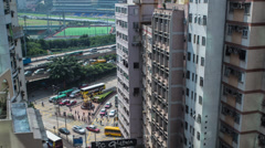 Hong Kong Time Lapse view at Happy Valley Stock Footage
