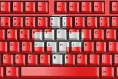 Computer keyboard with switzerland flag concept Stock Illustration
