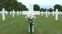 The Netherlands American Cemetery and Memorial near Margraten, Netherlands. Stock Footage