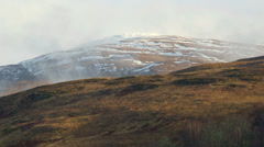 Snow Capped Mountains Highlands Scotland 8 Stock Footage