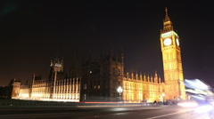 London: Big Ben and Houses Of Parliament. 4K / UHD Stock Footage