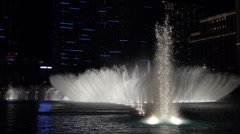 Bellagio Fountains Night Las Vegas Night Slow Motion #2 - stock footage