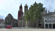 Stock Video Footage of Basiliek Sint Servaas in Maastricht, Limburg, the Netherlands.