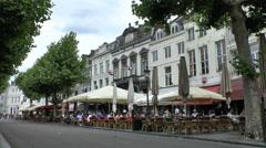 Street cafe/restaurants in Maastricht, Limburg, the Netherlands. Stock Footage