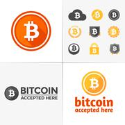 Bitcoin graphics Stock Illustration