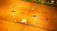Time lapse - tennis court Stock Footage