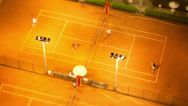Stock Video Footage of time lapse - tennis court