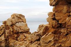 Eroded rock wall Stock Photos