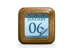 Stock Illustration of calendar, january month