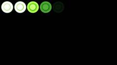 4K Led Lights 9 green Stock Footage