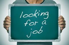 Man looking for a job Stock Photos