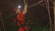 Stock Video Footage of Louisville Megacavern Cave Ziplining