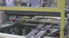 Louisville Slugger Baseball Bat being made at the factory - stock footage