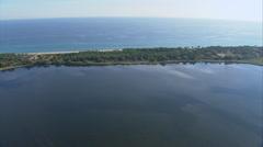 Aerial corsica sea coast stank Stock Footage