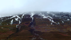 Snow Capped Mountains Highlands Scotland Stock Footage
