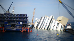 Costa Concordia Stock Footage