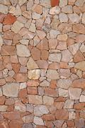 Beautiful dry-stone stone wall Stock Photos