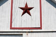Amish barn symbol Stock Photos