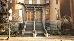 Residential buildings in boston Stock Photos