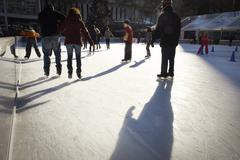 Ice skating in New York - stock photo