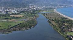 Aerial corsica marana Bastia Stock Footage