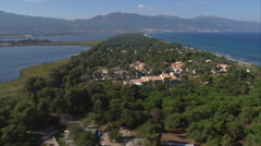 Aerial corsica bastia marana stank Stock Footage