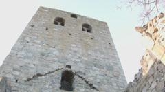 St. Olof's church ruins Stock Footage