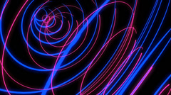 Neon Trails VJ Loop (6) Stock Footage