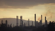 Stock Video Footage of Oil refinery plant