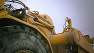Stock Video Footage of Detail of tire in heavy machinery