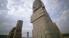 Toltec statues - stock footage