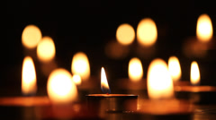 Candles light Stock Footage