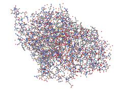 Highly complex molecule Stock Illustration