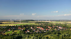 West German Wind Energy Landscape Timelapse - stock footage